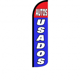Auto Usados Feather Flag 12ft Poly Knit width=