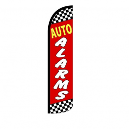 Auto Alarms Feather Flag 12ft Poly Knit width=