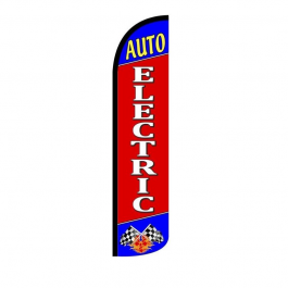 Auto Electric Feather Flag 12ft Poly Knit width=