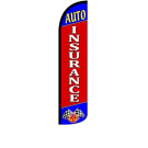 Auto Insurance Feather Flag 12ft Poly Knit