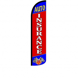 Auto Insurance Feather Flag 12ft Poly Knit width=
