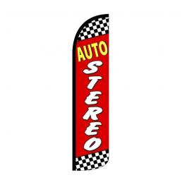 Auto Stereo Feather Flag 12ft Poly Knit width=