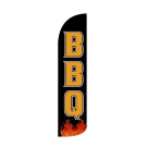 BBQ ( black ) Feather Flag 12ft Poly Knit