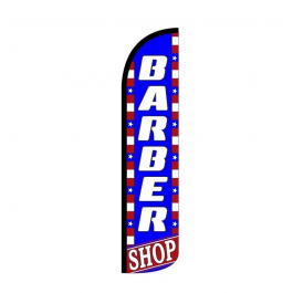 Barber Feather Flag 12ft Poly Knit width=