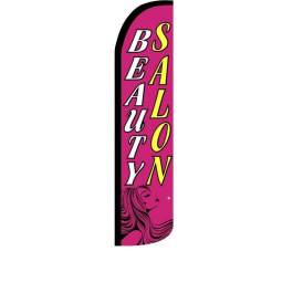 Beauty Salon Feather Flag 12ft Poly Knit width=