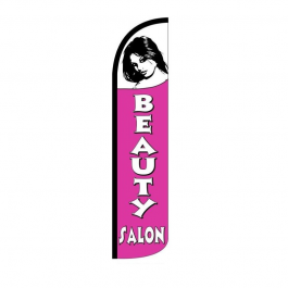 Beauty Salon ( pink ) Feather Flag 12ft Poly Knit width=