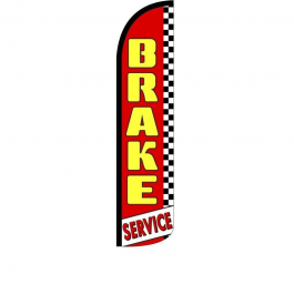 Brake Service Feather Flag 12ft Poly Knit width=