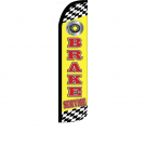 Brake Service Feather Flag 12ft Poly Knit