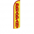 Breakfast Feather Flag 12ft Poly Knit