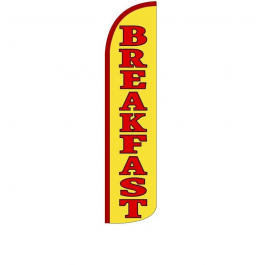 Breakfast Feather Flag 12ft Poly Knit width=