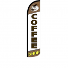 Coffee Shop Feather Flag 12ft Poly Knit
