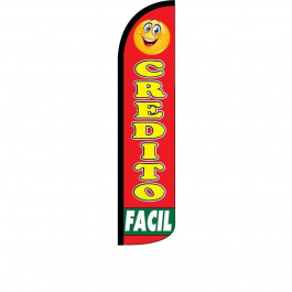 Credito Facil Feather Flag 12ft Poly Knit width=