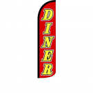 Diner ( red / yellow ) Feather Flag 12ft Poly Knit