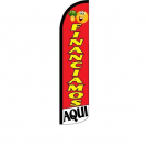 Financiamos Aqui Feather Flag 12ft Poly Knit