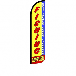Fishing Supplies Feather Flag 12ft Poly Knit width=