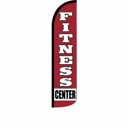 Fitness Center Feather Flag 12ft Poly Knit width=