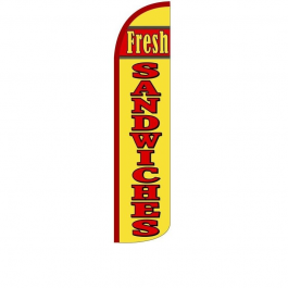 Fresh Sandwiches Feather Flag 12ft Poly Knit width=
