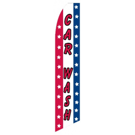 Car Wash feather flag. stripes (swooper-style) width=