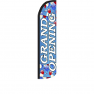 Grand Opening ( blue ) Feather Flag 12ft Poly Knit