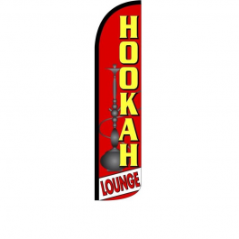 Hookah Lounge Feather Flag 12ft Poly Knit width=