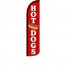 Hot Dogs Feather Flag 12ft Poly Knit
