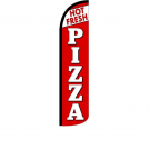 Hot Fresh Pizza Feather Flag 12ft Poly Knit