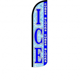 Ice cubes Blocks Feather Flag 12ft Poly Knit width=