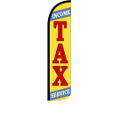 Income Tax Service Feather Flag 12Ft Poly Knit
