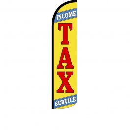 Income Tax Service Feather Flag 12Ft Poly Knit width=