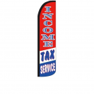 Income Tax Service ( r/w/b ) Feather Flag 12ft Poly Knit
