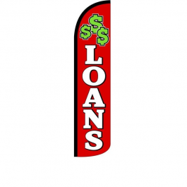 Loans Feather Flag 12ft Poly Knit width=