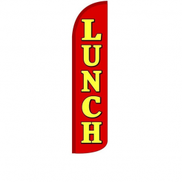 Lunch ( red/yellow ) Feather Flag 12ft Poly Knit width=