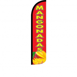 Mangonadas Feather Flag 12ft Poly Knit width=