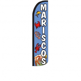 Mariscos Feather Flag 12ft Poly Knit width=