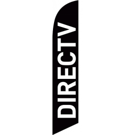 Direct Tv Feather Flag Black 12ft Poly Knit width=