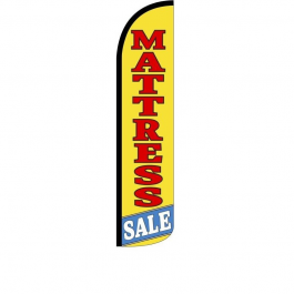 Mattress Sale Feather Flag 12ft Poly Knit width=
