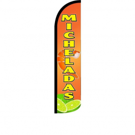 Micheladas Feather Flag 12ft Poly Knit width=