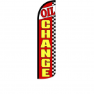 Oil Change Feather Flag 12ft Poly Knit