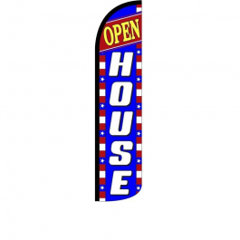 Open House Feather Flag 12ft Poly Knit width=
