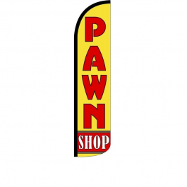 Pawn Shop Feather Flag 12ft Poly Knit width=