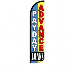 Payday Advance Loans Feather Flag 12ft Poly Knit width=