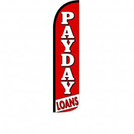 Payday Loans Feather Flag 12ft Poly Knit width=