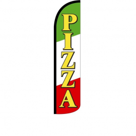 Pizza Feather Flag 12ft Poly Knit width=