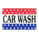 Car Wash Flag 3x5 red-wht-blue