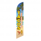 Tacos de Mariscos Feather Flag 12ft Poly Knit