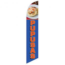 Pupusas Feather Flag 12ft Poly Knit width=