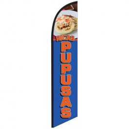 Ricas Pupusas Feather Flag 12ft Poly Knit width=