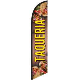 Taqueria Feather Flag 12ft Poly Knit width=