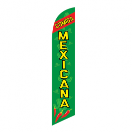 Comida Mexicana Feather Flag 12ft Poly Knit width=