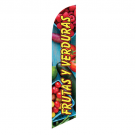 Frutas Y Verduras Feather Flag 12ft Poly Knit